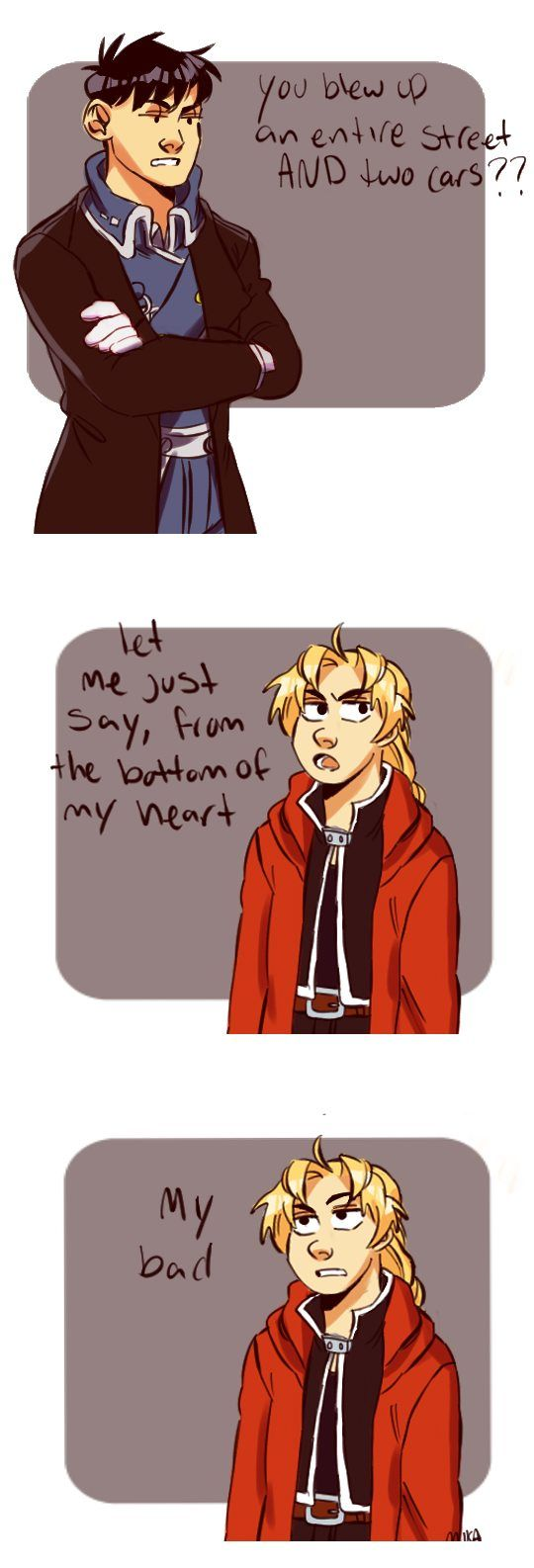 From the Bottom of his heart by mikasrockbells. This is literally my favorite fanart of FMA.