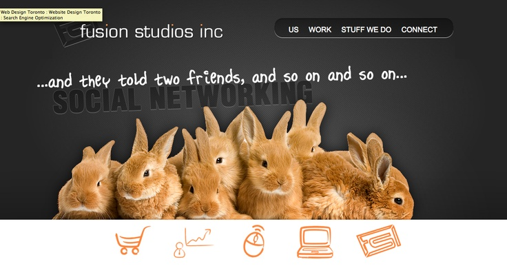 Home page, Fusions Studios.