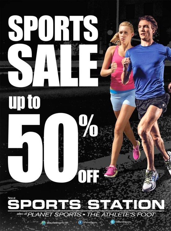 Join us at the Sports Sale at Sports Station! Up to 50% off our products and goods in store!