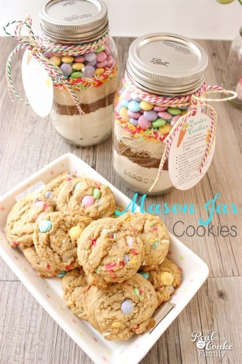 34 best gift ideas images on pinterest holiday ideas christmas easter mason jar cookie recipe with free printable tags negle Image collections