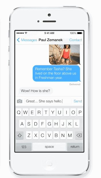 iphone ios7 chat bubble