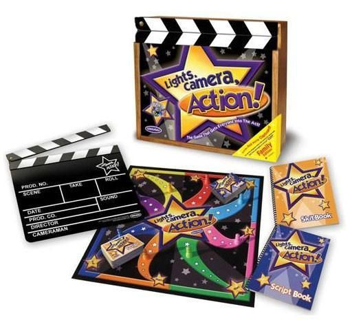 Lisa LeLeu Studios W12357 Lights, Camera, Action Game In Deluxe Wooden Box