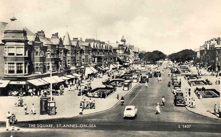 Lancashire, St Annes on Sea, The Square c1960.jpg (1095×677)