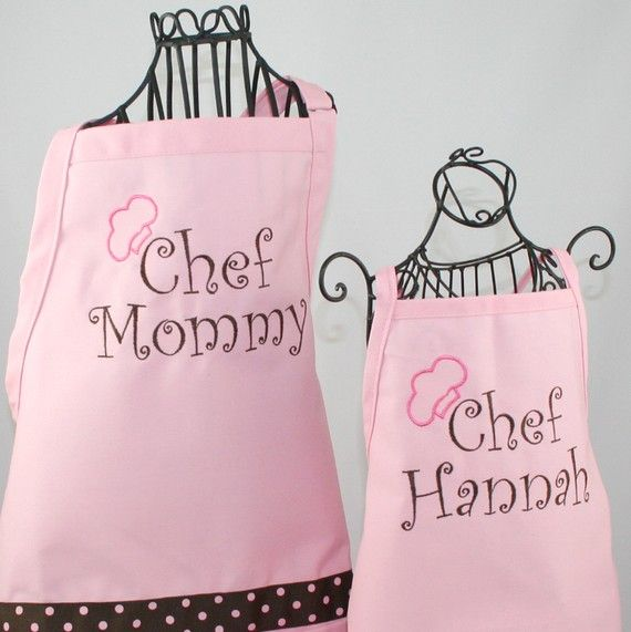 Personalized Apron Chef Mommy and Daughter Matching by shopmemento, $47.00