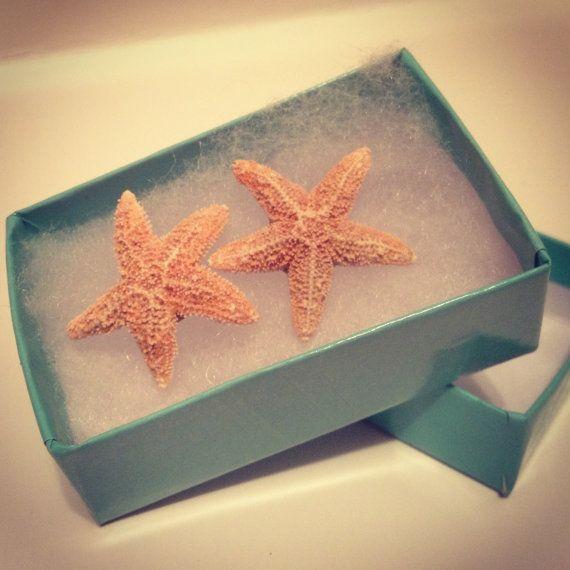 Aquamarine Real Starfish Earring by byElizabethSwan on Etsy, $8.00