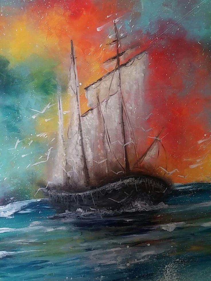 Akryl na platne 140 x 70 - Z morske peny