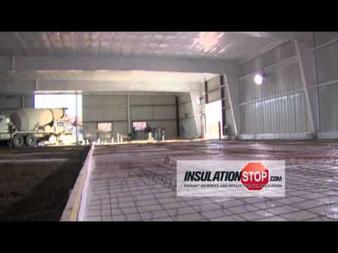 InsulationStop Under Concrete Slab Radiant Heat Insulation.mp4