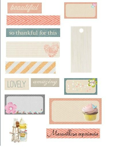 decoraciones scrapbook para imprimir