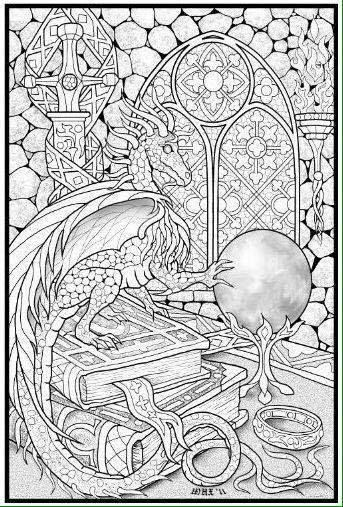 Dragon Adult Coloring Page Find This Pin And More