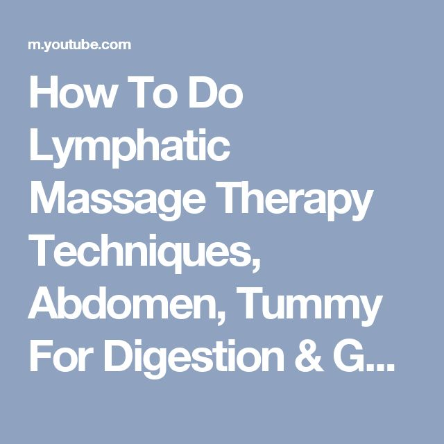 How To Do Lymphatic Massage Therapy Techniques, Abdomen, Tummy For Digestion & Gut Health - YouTube