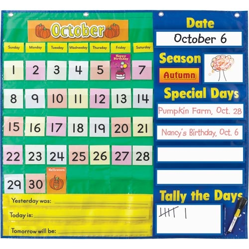 Calendar Pocket Chart Kindergarten : Best images about back to school projects and bulletin