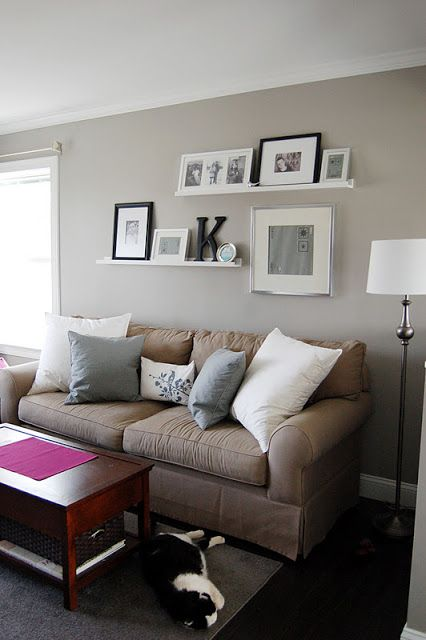 Wall Sconces Over Couch : picture ledge above couch Our House Pinterest Pictures, What i want and Nailed it