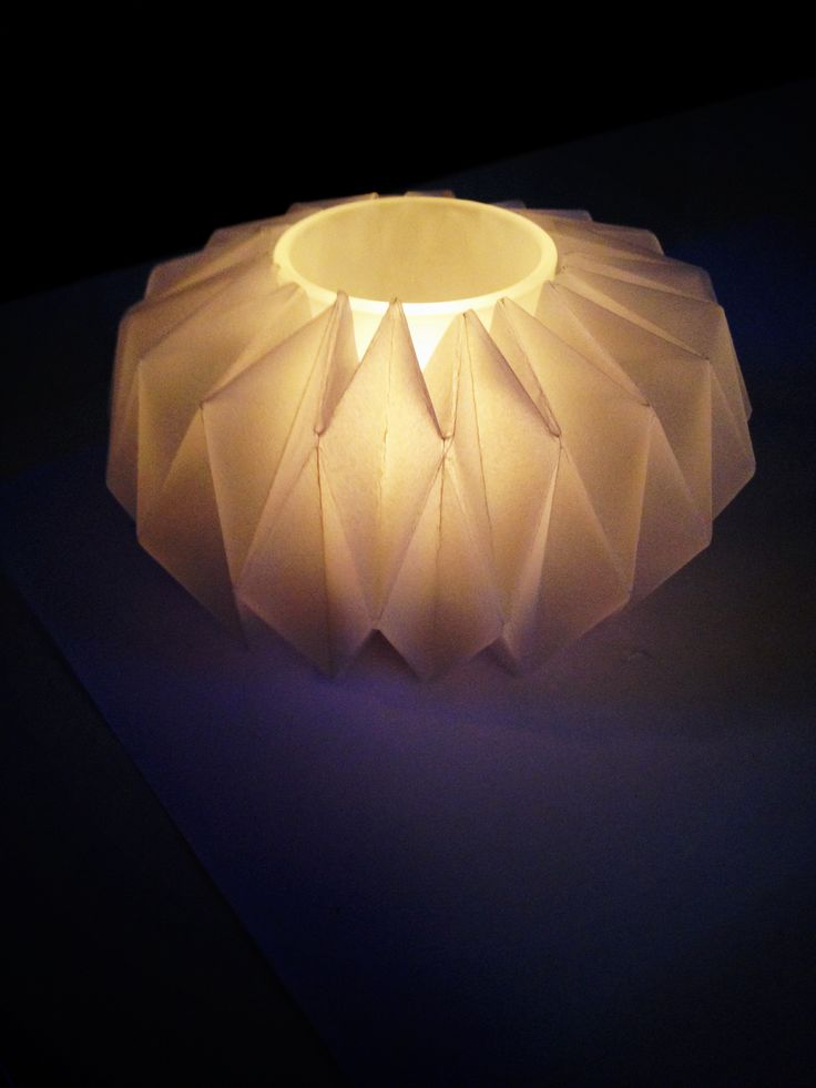 Candle holders, Origami and Candles