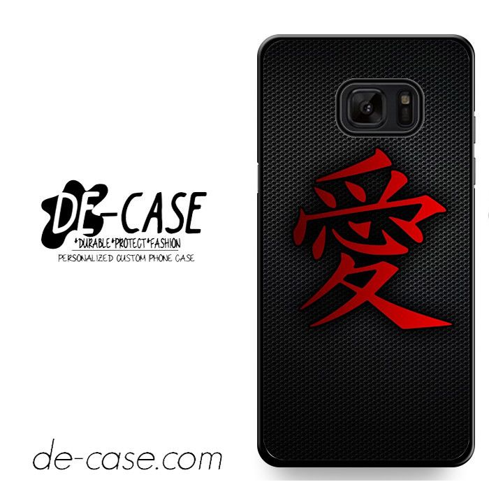 Carbon Japanese Kanji Love DEAL-2397 Samsung Phonecase Cover For Samsung Galaxy Note 7