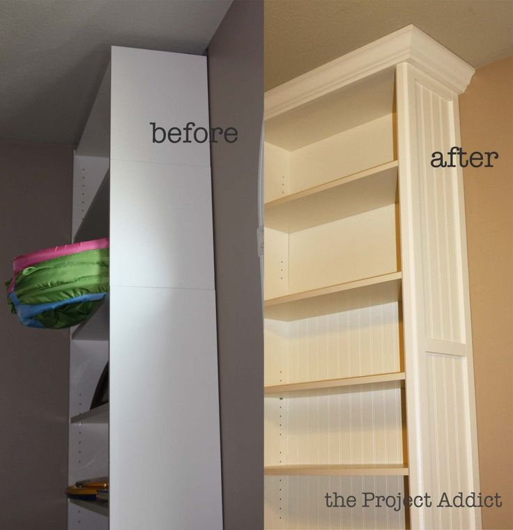Playroom: Building in Billy bookcases |