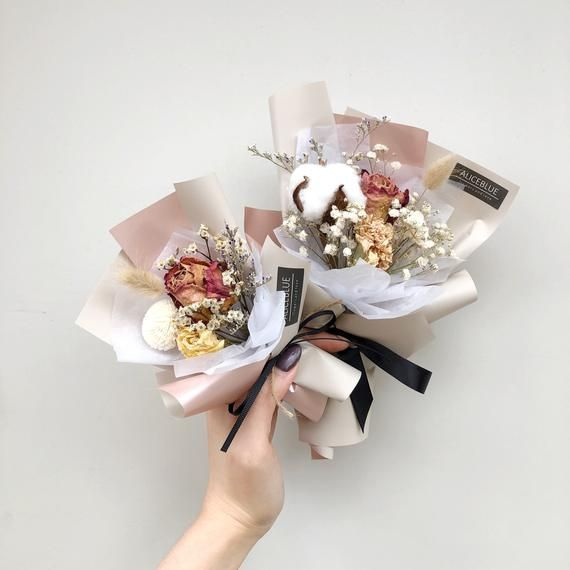 Mini Dried Bouquet  Dried Flowers  Dried Bouquet  Party Favor  Wedding Favor  Bridesmaid Gift  Birthday Gift