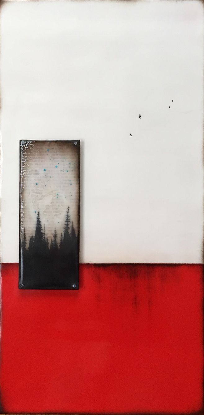 """Red Earth""series  10x20 Encaustic"