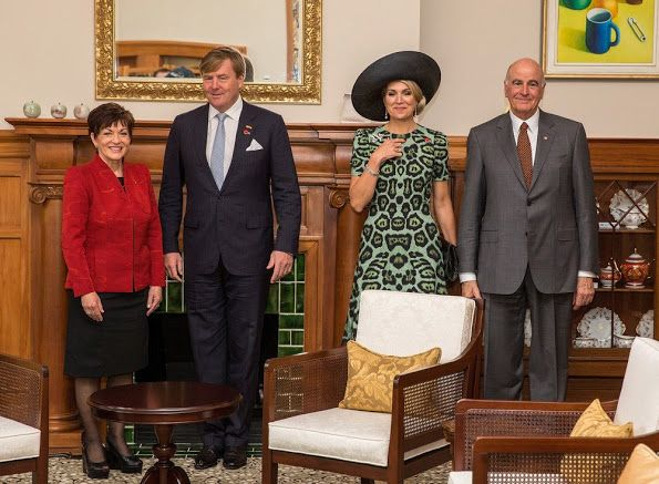 King Willem-Alexander and Queen Maxima started the official visit to New Zealand. The Dutch royal couple arrived on Friday and had no public engagements during the weekend. They welcomed by Governor-General Dame Patsy Reddy at a ceremony at Government House on Nov 7, 2016 in Wellington, New Zealand. The Dutch King and Queen are on a three day visit to New Zealand.