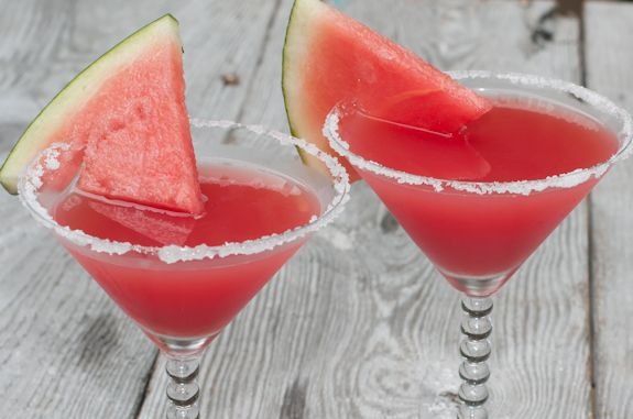 """Now if a Watermelon Martini doesn't just shout """"summer!"""" I don't know what does.  Made with fresh watermelon."""