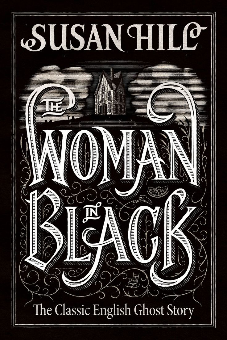 Victorian inspired lettering and illustration, for the classic English ghost story, The Woman in Black. Commissioned by Penguin Random House
