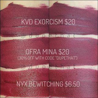 Dupethat: Kat Von D Exorcism Dupes