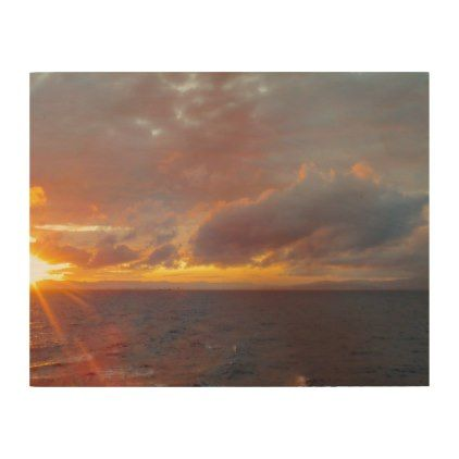 Mediterranean Sunset Wood Print - outdoor gifts unique cyo personalize