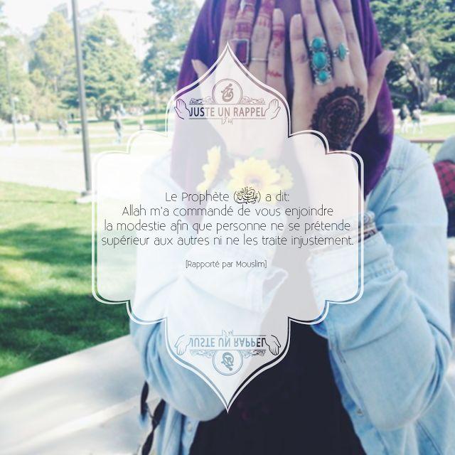 Allah m'a commandé de vous enjoindre... | Juste un Rappel