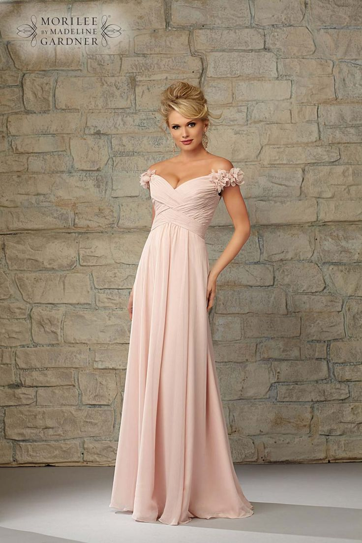 Pale pink bridesmaid dress from Mori Lee