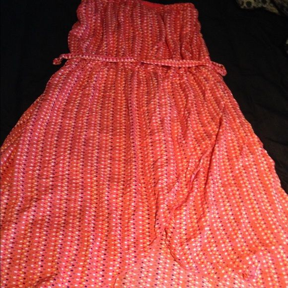 Mullet dress Brand new never worn (no tags) size 2x mullet dress ! Coral with polka dots! Rainbow Dresses