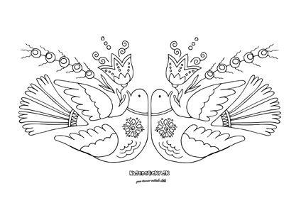 Vajnorské ornamenty - omaľovánky