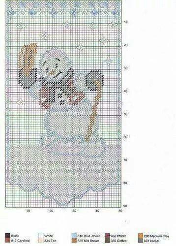 Snowman valance
