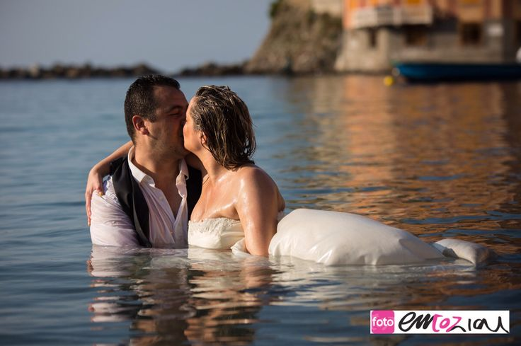 Trash the dress photography in the gorgeous Italian Riviera