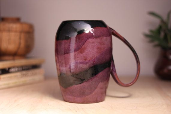 Purple Coffee Mug Handmade Coffee Cup by SublimePotteryStudio