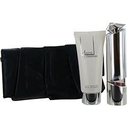 Aura Swarovski By Swarovski Eau De Parfum Refillable Spray 1.7 Oz & Body Lotion 3.5 Oz & Evening Pouch