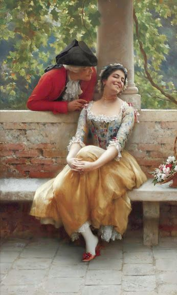 Amazed By The Beauty of Art & Photography!... (Discussion):   Eugene de Blaas The Flirtation