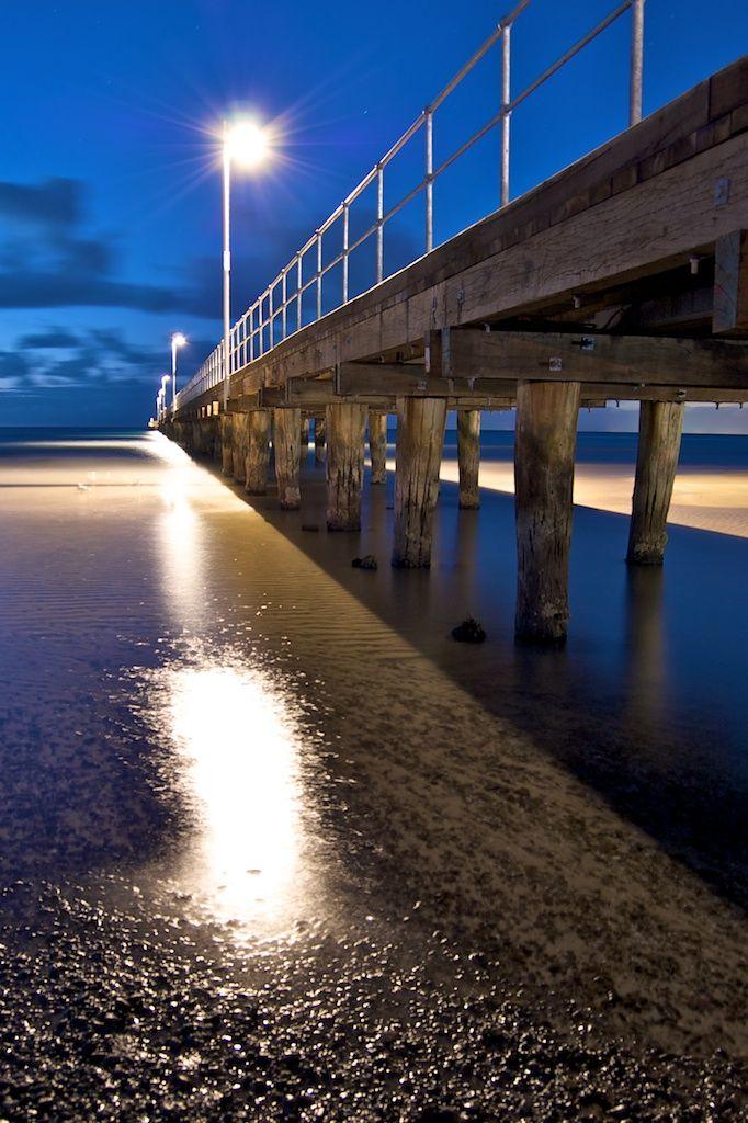 Frankston Pier, Victoria at night.