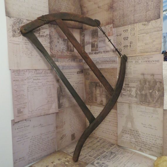 Antique Buck Saw Wall Hanging Farmhouse Decor By