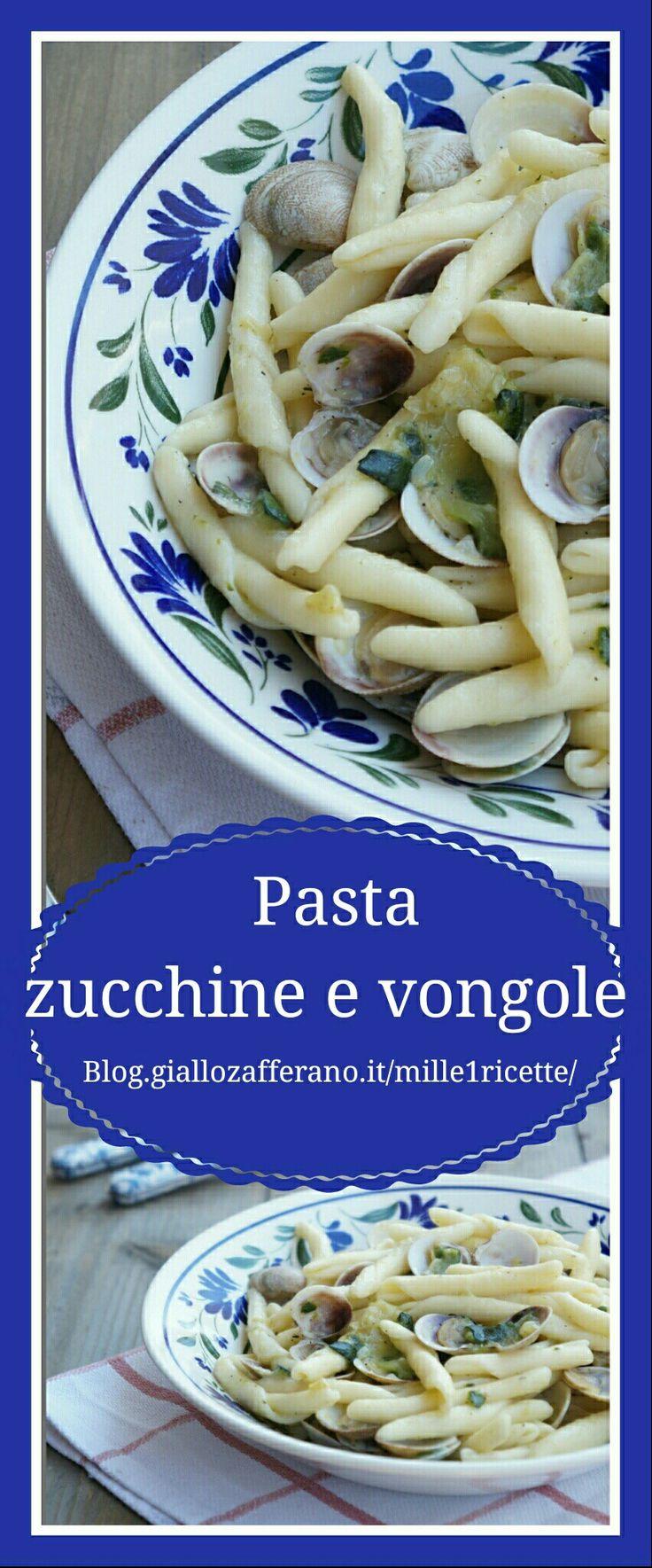 Pasta zucchine e vongole  http://blog.giallozafferano.it/mille1ricette/pasta-alle-zucchine-vongole/
