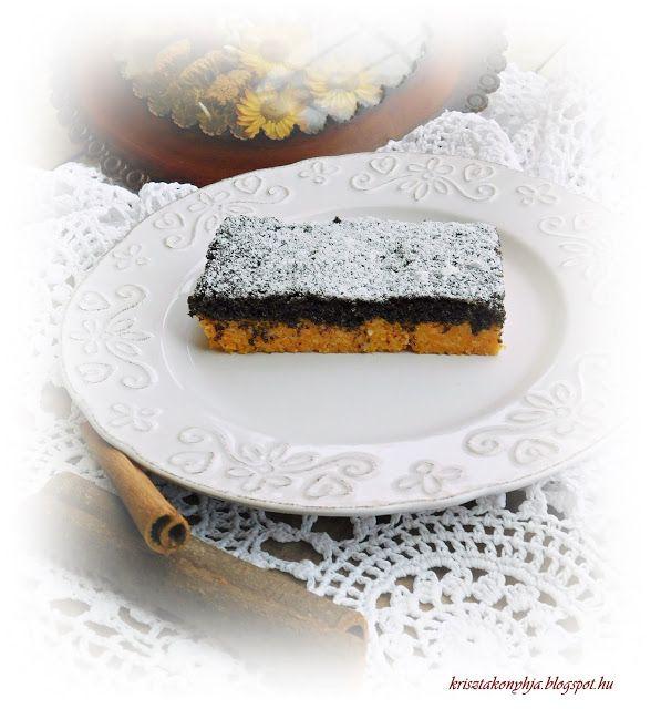 Kriszta konyhája- Sütni,főzni bárki tud!: Sütőtökös-mákos pite ( paleo )