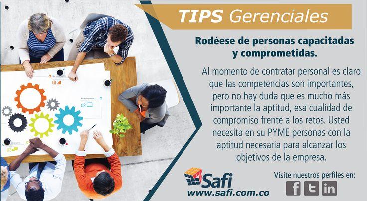 Un equipo capacitado y comprometido son claves para alcanzar el éxito de su PYME. www.safi.com.co