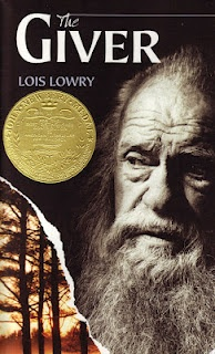 The Giver.  My comment: Uncle Frank gave this book to me so I could read it when I was in the third grade.