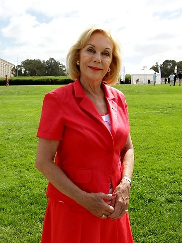 Australian of The Year 2013 Ita Buttrose after attending the Australia Day Flag Raising and Citizenship Ceremony on the shore of Lake Burley Griffin in Canberra. Picture: Kym Smith