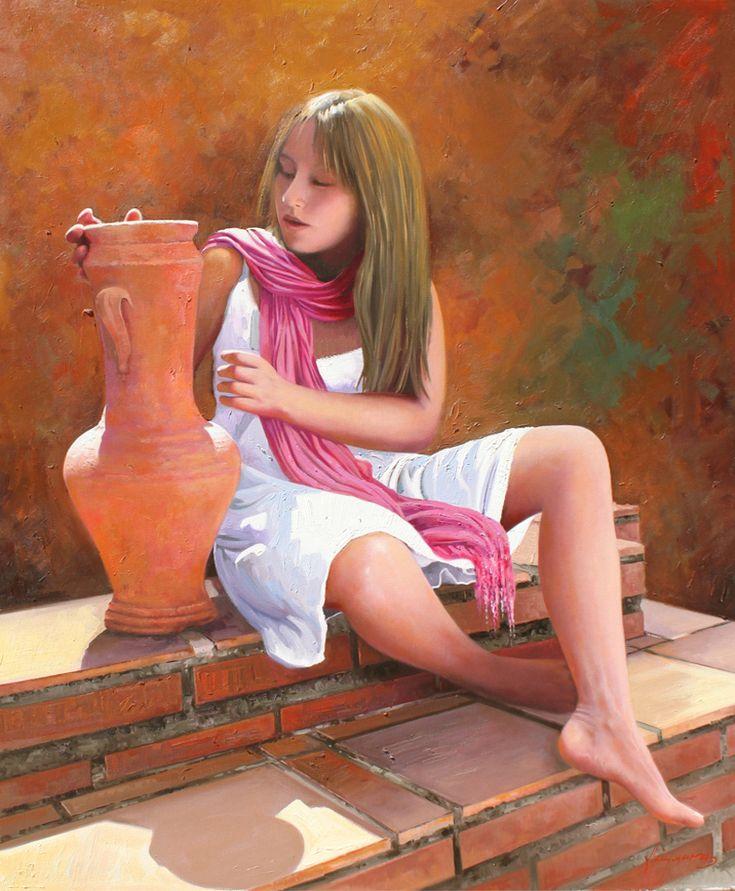 Elena 100x81 oil on canvas by Jose Higuera. http://www.josehiguera.com · http://www.facebook.com/joseyhiguera