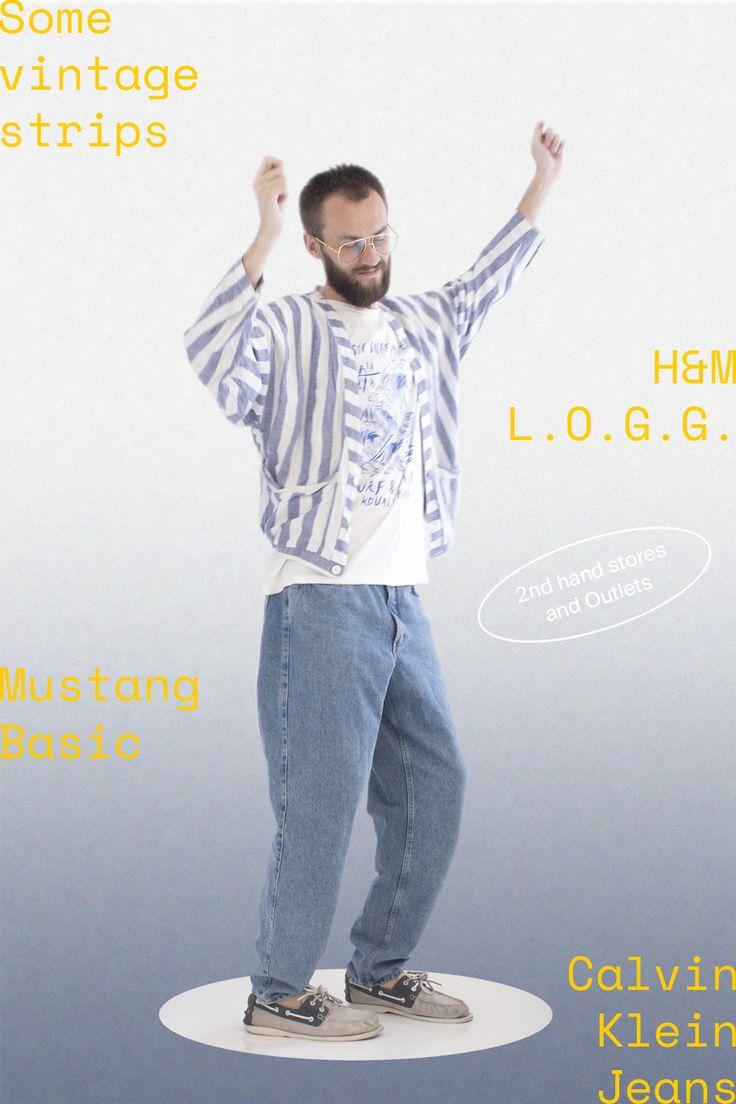 Some vintage strips + H&M L.O.G.G. + Mustange Basic + Calvin Klein Jeans. Space Mono Regular in use.