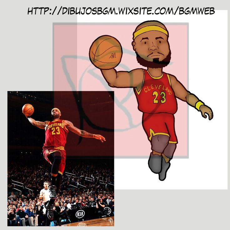 Lebrons James, NBA, baloncesco, 23, caricatura