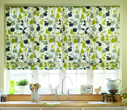 New at Mr Price home are roman blinds in standard sizes. Brighten up your kitchen with splashes of lime.