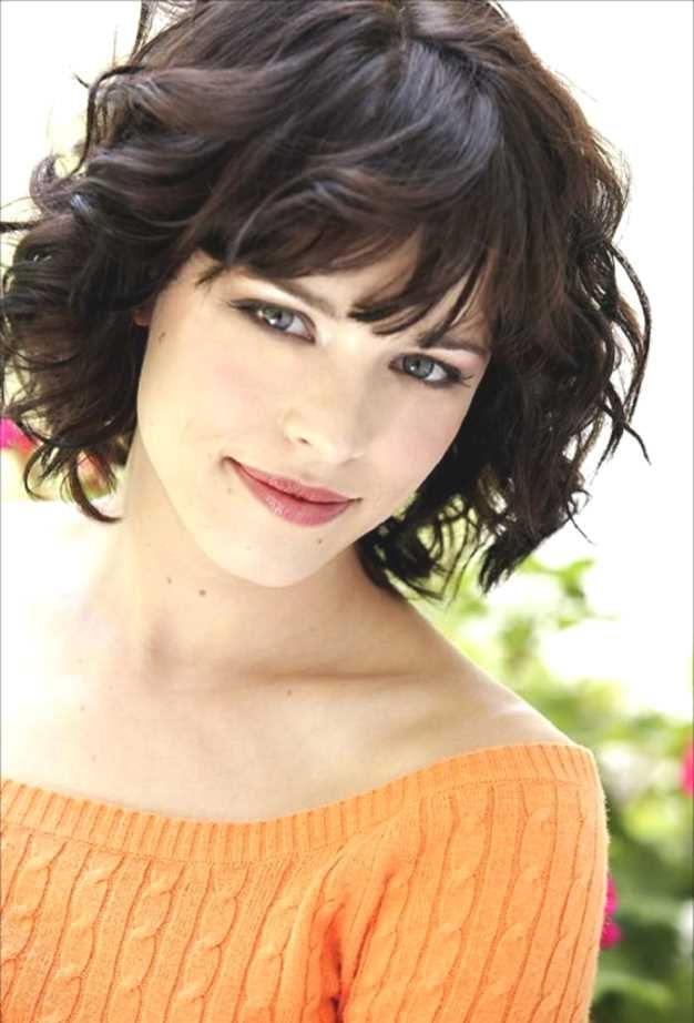 Short Hairstyles For Thick Curly Hair And Round Face