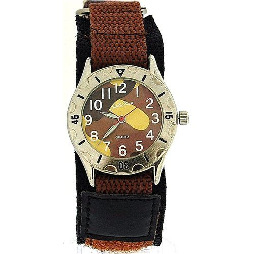 Jakob Strauss Brown Army Camouflage Velcro Strap Boys Sports Watch JAST03