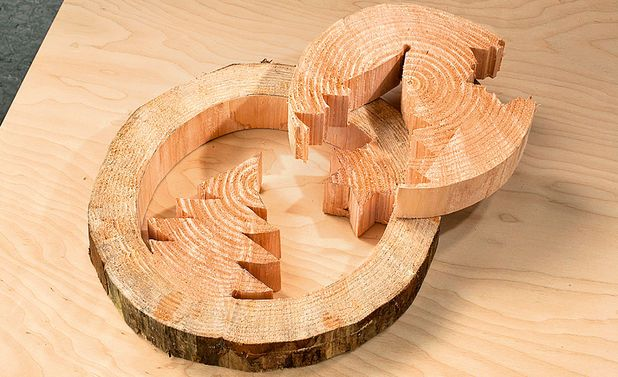 Baumscheiben-Deko basteln