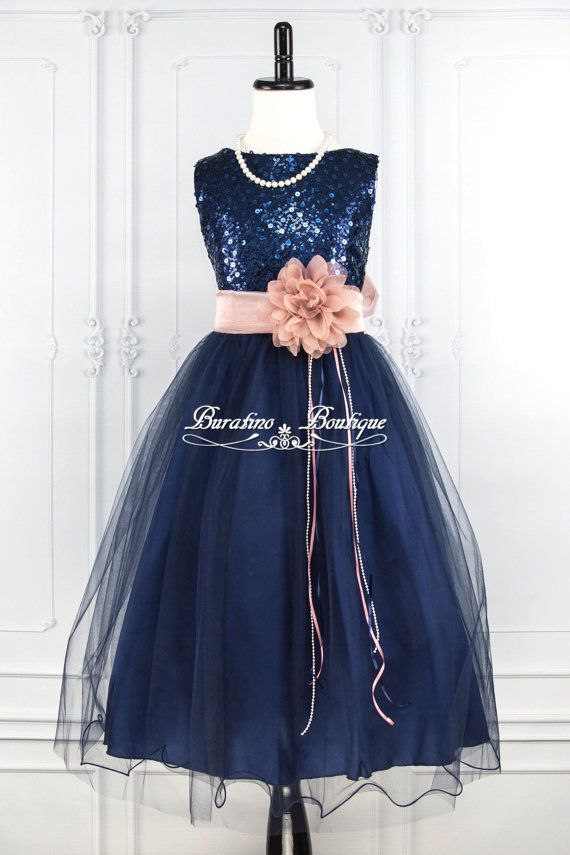 Hey, I found this really awesome Etsy listing at https://www.etsy.com/listing/256493509/navy-blue-sequin-flower-girl-dress-dusty